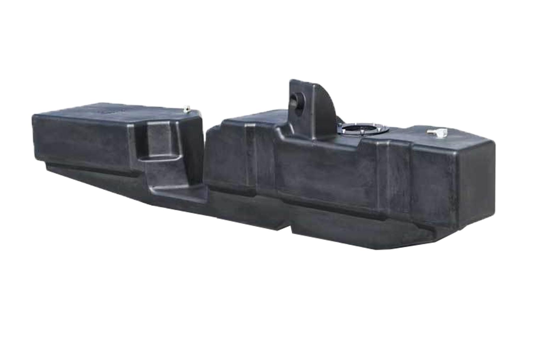 52 Gallon extra heavy duty, cross-linked polyethylene fuel tank with shield
